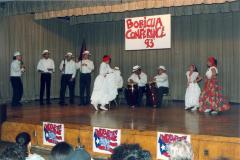 Pleneros dancing Plena at the ¡MUÉVETE! Boricua Youth Conference