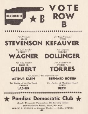 Pondiac Democratic Club, Vote Row B