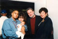 Richie Pérez, his wife Martha, and company