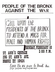 People of the Bronx Against the War