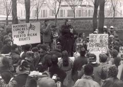 Richie Pérez Protesting Against Police Brutality