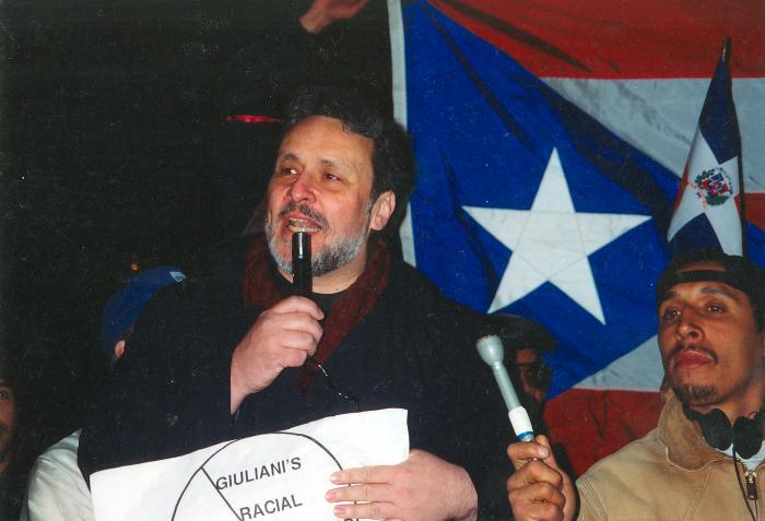 Richie Pérez Protesting Against Giuliani