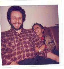 Richie Pérez and his son Danny
