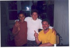 Richie Pérez with his wife Martha and their son Dan