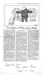 The Right to Write and to Read