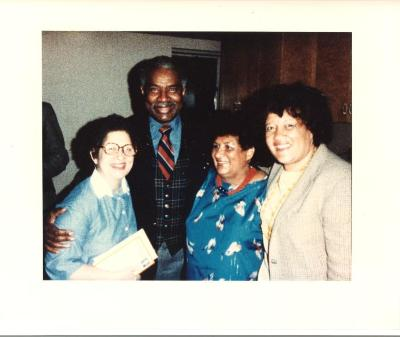 Elba Cabrera, Evelina López Antonetty, Ossie Davis, and Lillian López