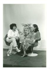 Elba Cabrera interviewing actress and attorney Ilka Tanya Payán
