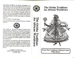 The Orisha Tradition: An African Worldview