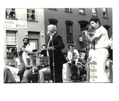 "Tito Puente playing at the ""Oye Willie"" Block Party"