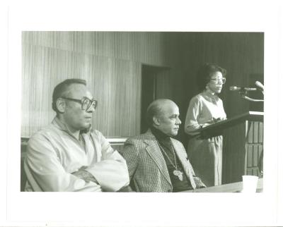 Piri Thomas and John Oliver Killens at the Schomburg Center