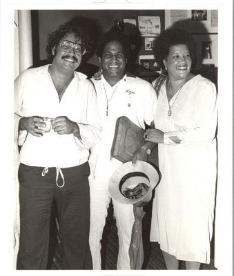 Elba Cabrera, Luis Melendez and Tato Laviera at AHA