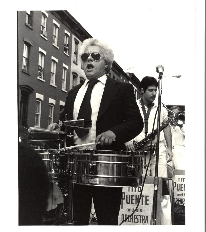Tito Puente playing at the Oye Willie Block Party