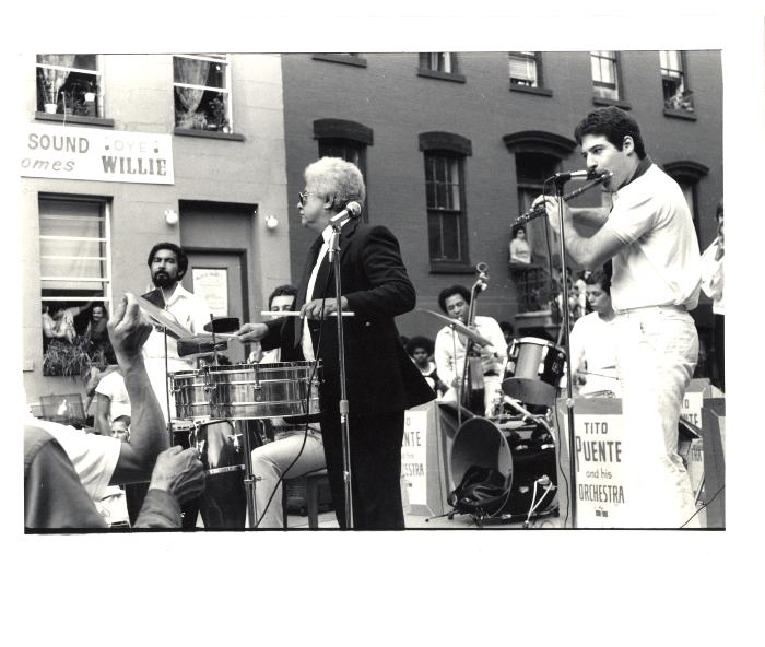 """Tito Puente playing at the """"Oye Willie"""" Block Party"""