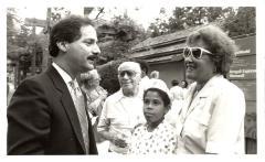 Elba Cabrera, Fernando Ferrer, Kisinga Fleming and Elias Karmon