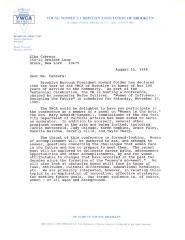 Correspondence to Elba Cabrera from the YWCA