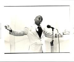 Poet Juan Boria at the Caribbean Cultural Center Program