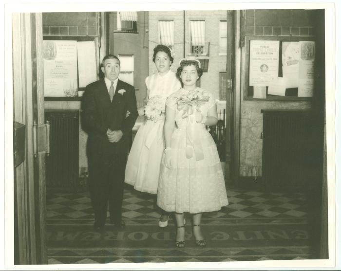Elba Cabrera's wedding day