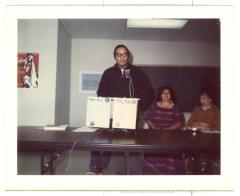 Piri Thomas, Evelina López Antonnety, and Pura Belpré at the United Bronx Parents