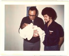 Piri Thomas, Jesús Papoleto Meléndez, and son at Piri's home