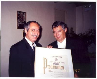 Councilman Guillermo Linares and Juan Gonzalez