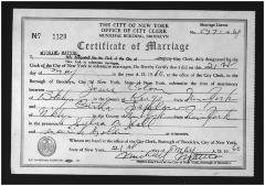 Marriage Certificate for Jesús Colón and Bertha Colón