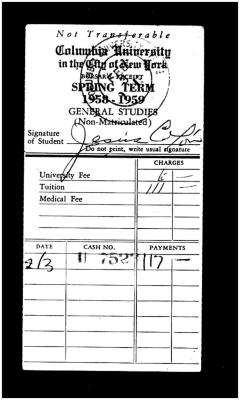 Receipt for Tuition Payment