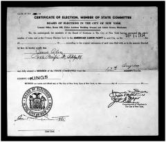 Certificate of Election, Member of State Committee