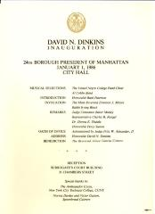 Reception for the Inauguration 23rd Borough President of Manhattan David Dinkins