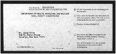 Social Security correspondence