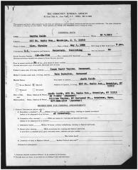 Death Certificate Form for Jesús and Clara Colón