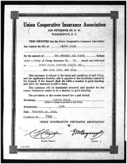 Insurance Certificate for Jesús Colón