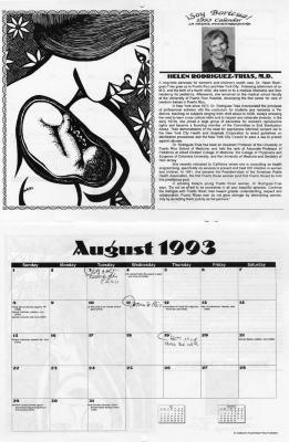 Soy Boricua ! 1993 Calendar, La Mujer puertorriqueña, Helen Rodriguez Trias, M.D.