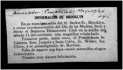 Informacion de Brooklyn / Information of Brooklyn