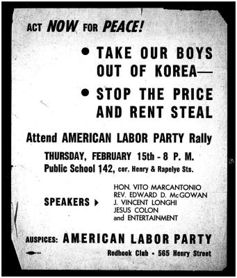 American Labor Party Rally