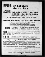 Al Gran Meeting Pro República Española / To The Great Meeting for the Spanish Republic