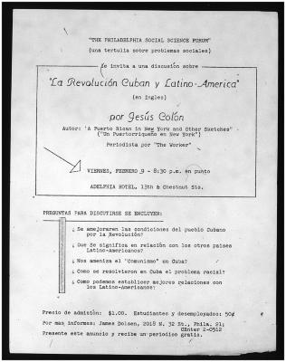 La Revolución Cubana y Latino-America / The Cuban Revolution and Latin America