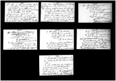 Seven book draft notes by Jesús Colón
