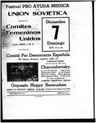 Festival Pro Ayuda Medica a la Union Sovietica / Festival Pro Medical Help to the Soviet Union