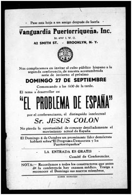 El Problema de España / The Problem of Spain
