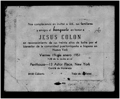Jesús Colón Banquet