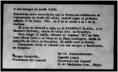 Jesús Colón Sixtieth Birthday Celebration
