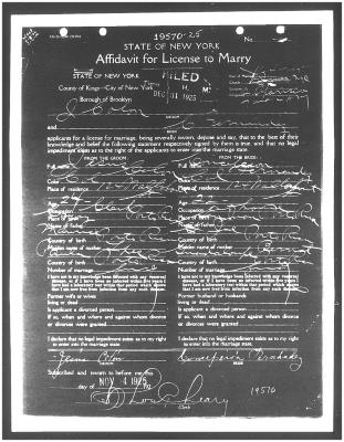 Affidavit for License to Marry for Jesús Colón and Concha Fernandez