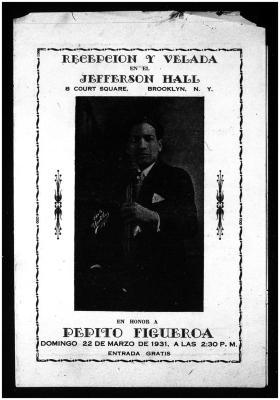 Recepción Y Velada En Honor A Pepito Figueroa / Reception And Evening In Honor Of Pepito Figueroa
