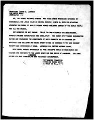 Correspondence to Pres. Lyndon B. Johnson