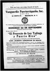 El Proyecto de Ley Tylings y Puerto Rico / The Bill and Puerto Rico