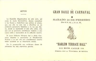 Gran Baile de Carnaval /Great Carnaval Dance