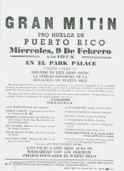 Gran Mitin Pro Huelga de Puerto Rico / Great Meeting for the Puerto Rican Strike