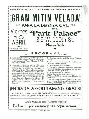 Gran Mitin Velada! / Great Evening Meeting!