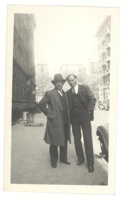 Jesus Colon and a friend in Brooklyn