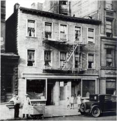 Storefront building in a Latino neighborhood